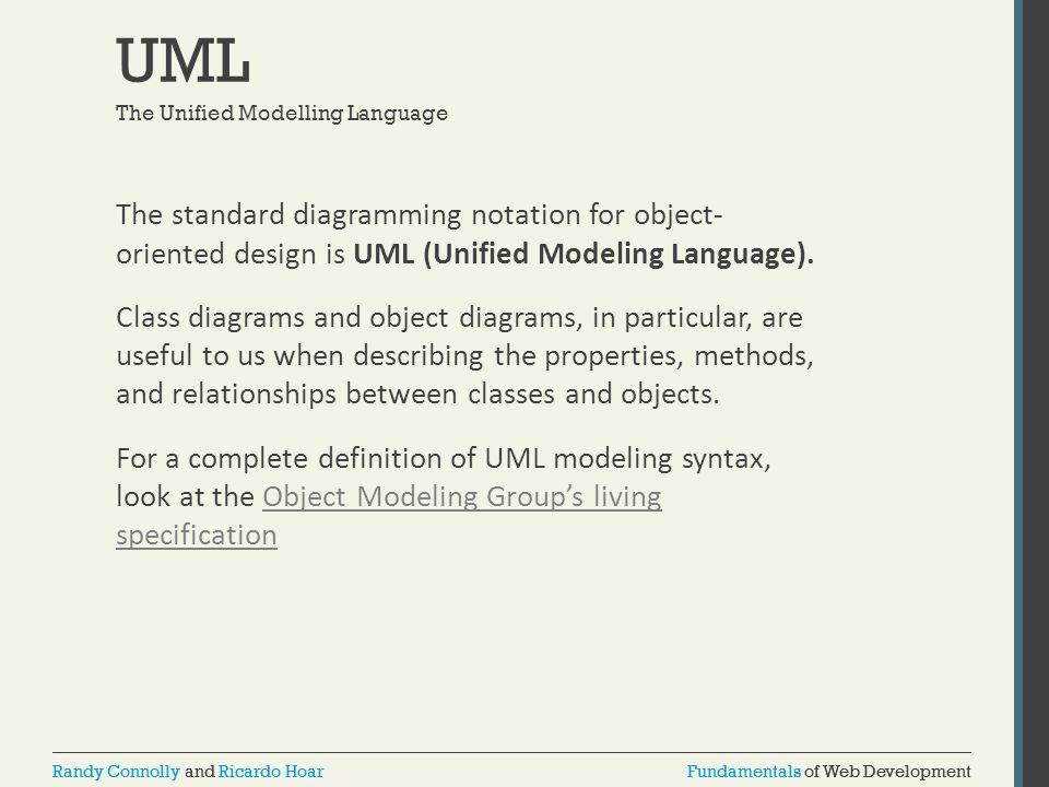 Fundamentals of Web DevelopmentRandy Connolly and Ricardo HoarFundamentals of Web DevelopmentRandy Connolly and Ricardo Hoar UML The standard diagramm