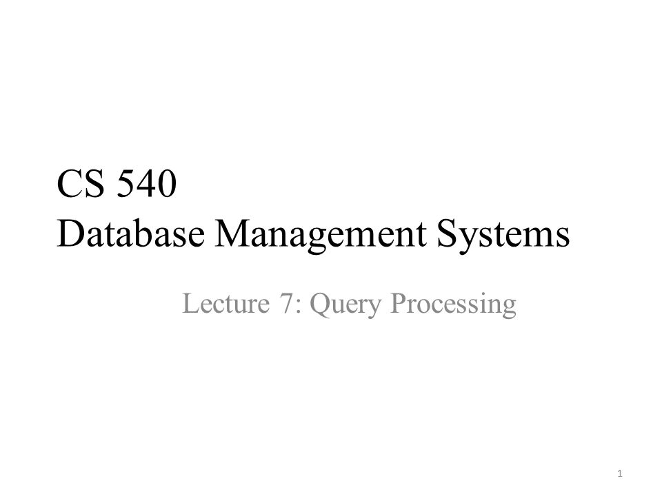 2 DBMS Architecture Query Executor Buffer Manager Storage Manager Storage Transaction Manager Logging & Recovery Lock Manager Buffers Lock Tables Main Memory User/Web Forms/Applications/DBA query transaction Query Optimizer Query Rewriter Query Parser Files & Access Methods Today ' s lecture