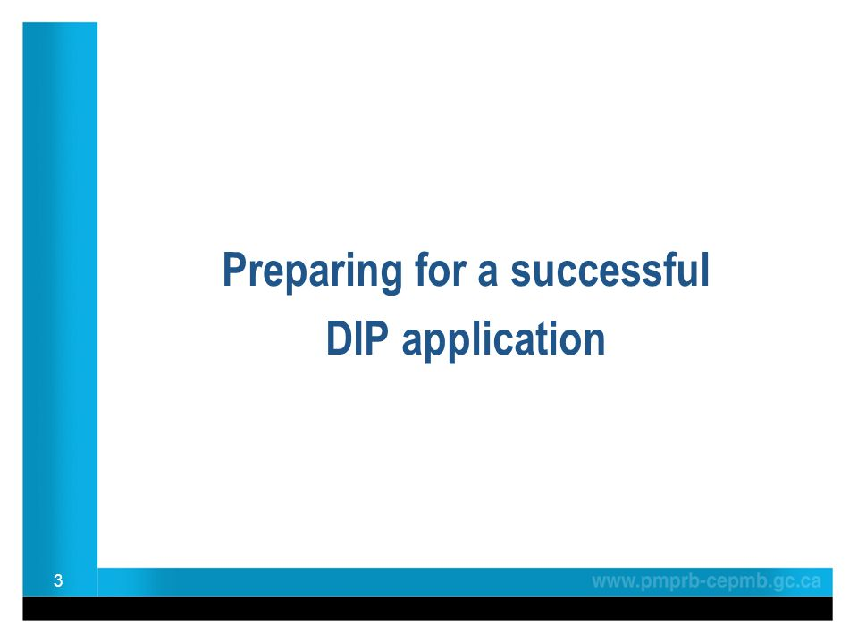 3 Preparing for a successful DIP application