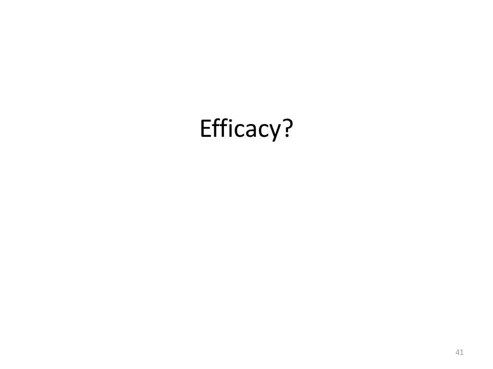Efficacy? 41