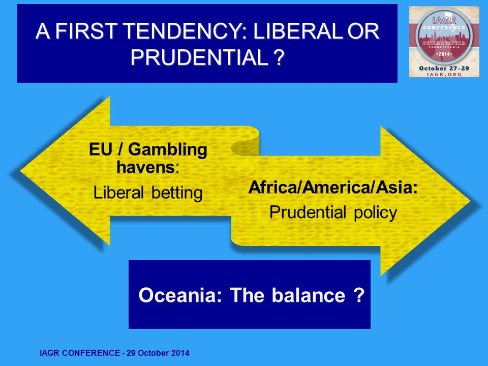 A FIRST TENDENCY: LIBERAL OR PRUDENTIAL .