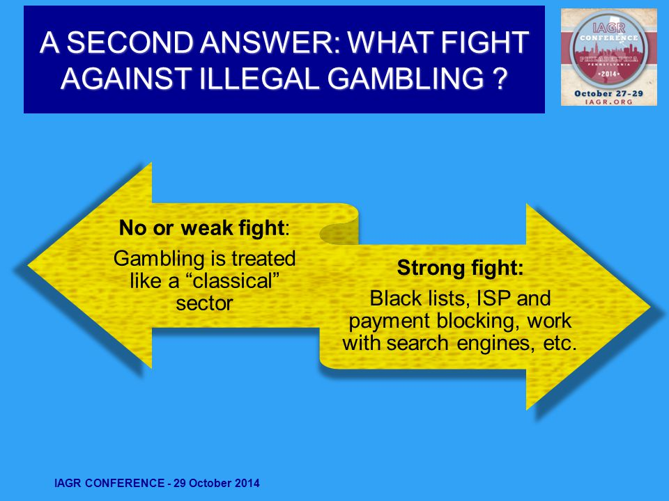 A SECOND ANSWER: WHAT FIGHT AGAINST ILLEGAL GAMBLING .