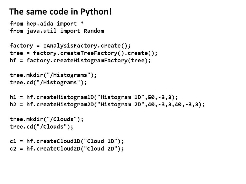 The same code in Python.