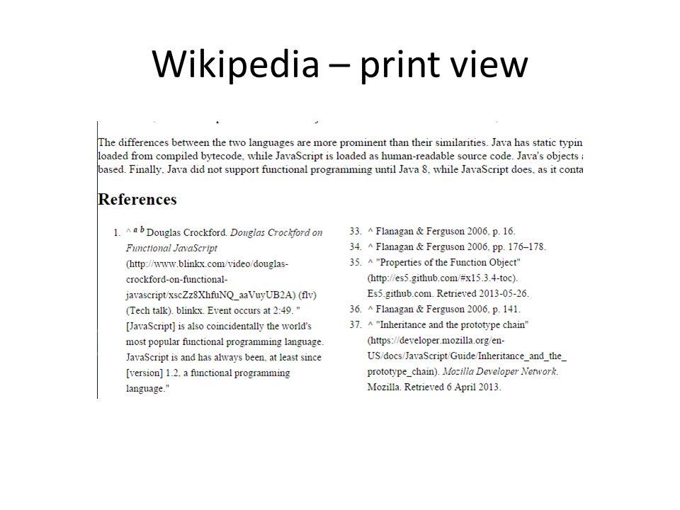 Wikipedia – print view