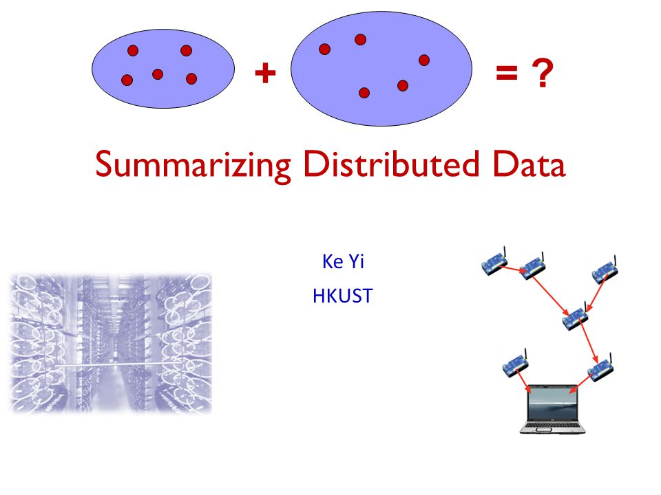 Summarizing Distributed Data Ke Yi HKUST +=