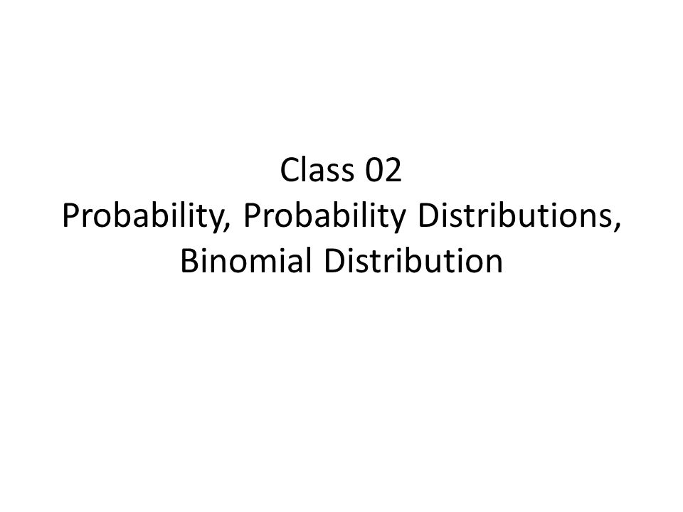 The Binomial (family) of pmf's.
