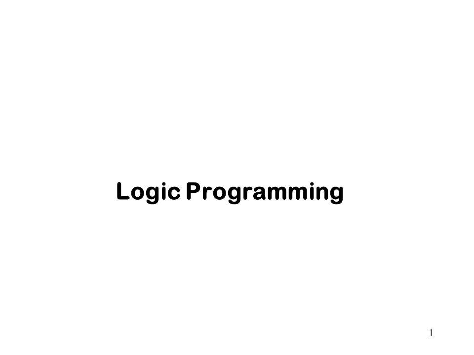 1 Logic Programming