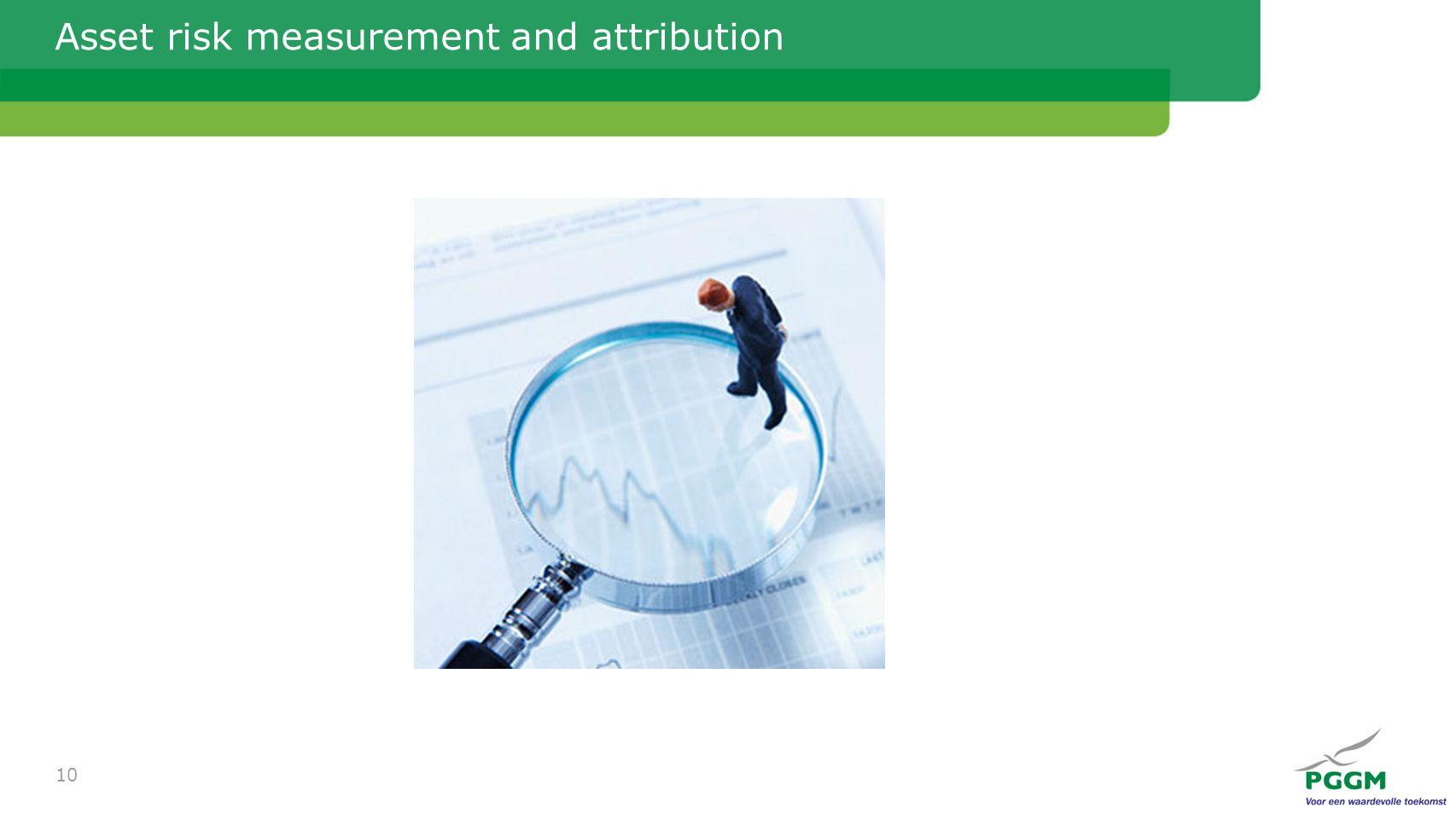 Asset risk measurement and attribution 10