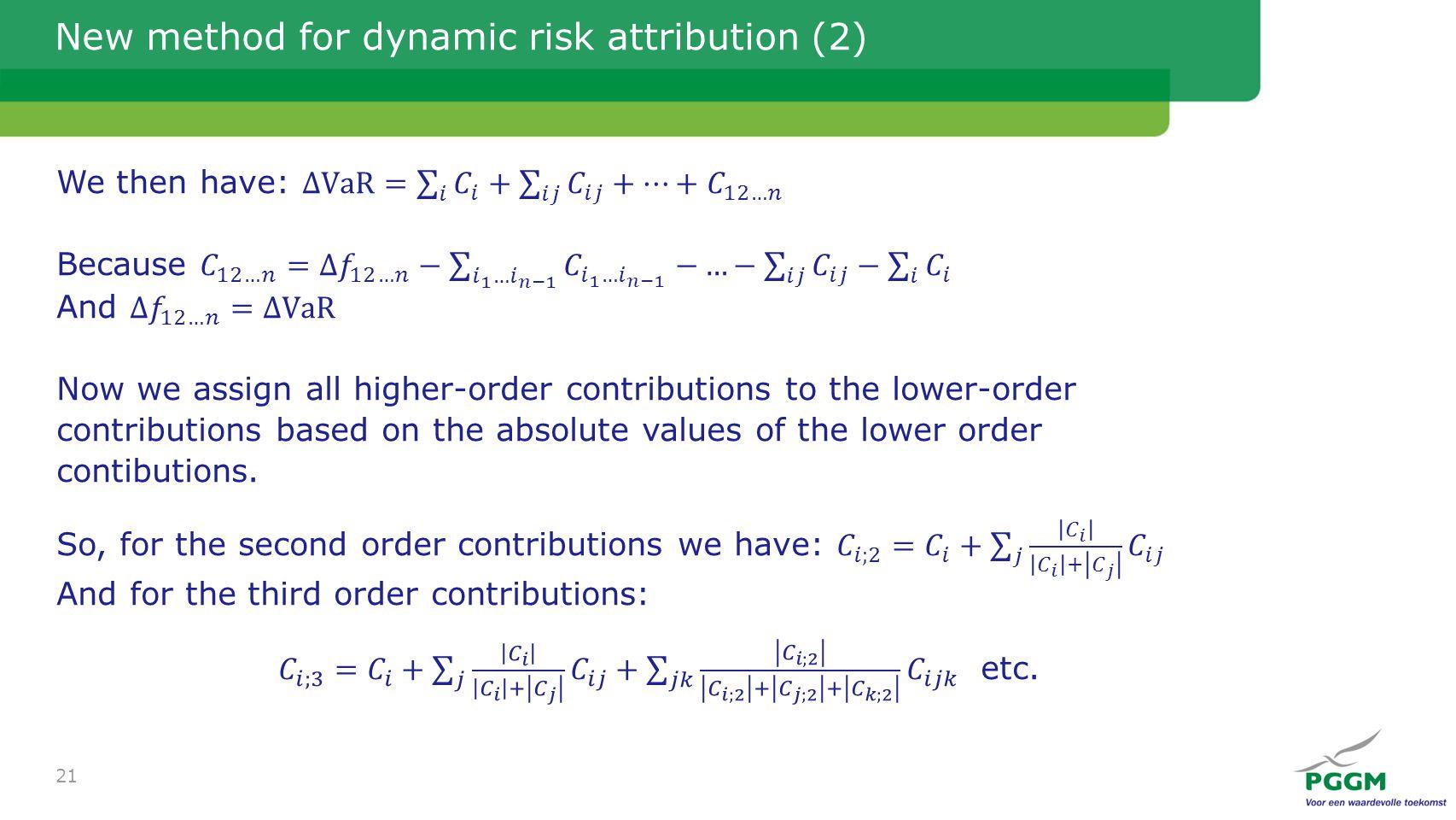 New method for dynamic risk attribution (2) 21