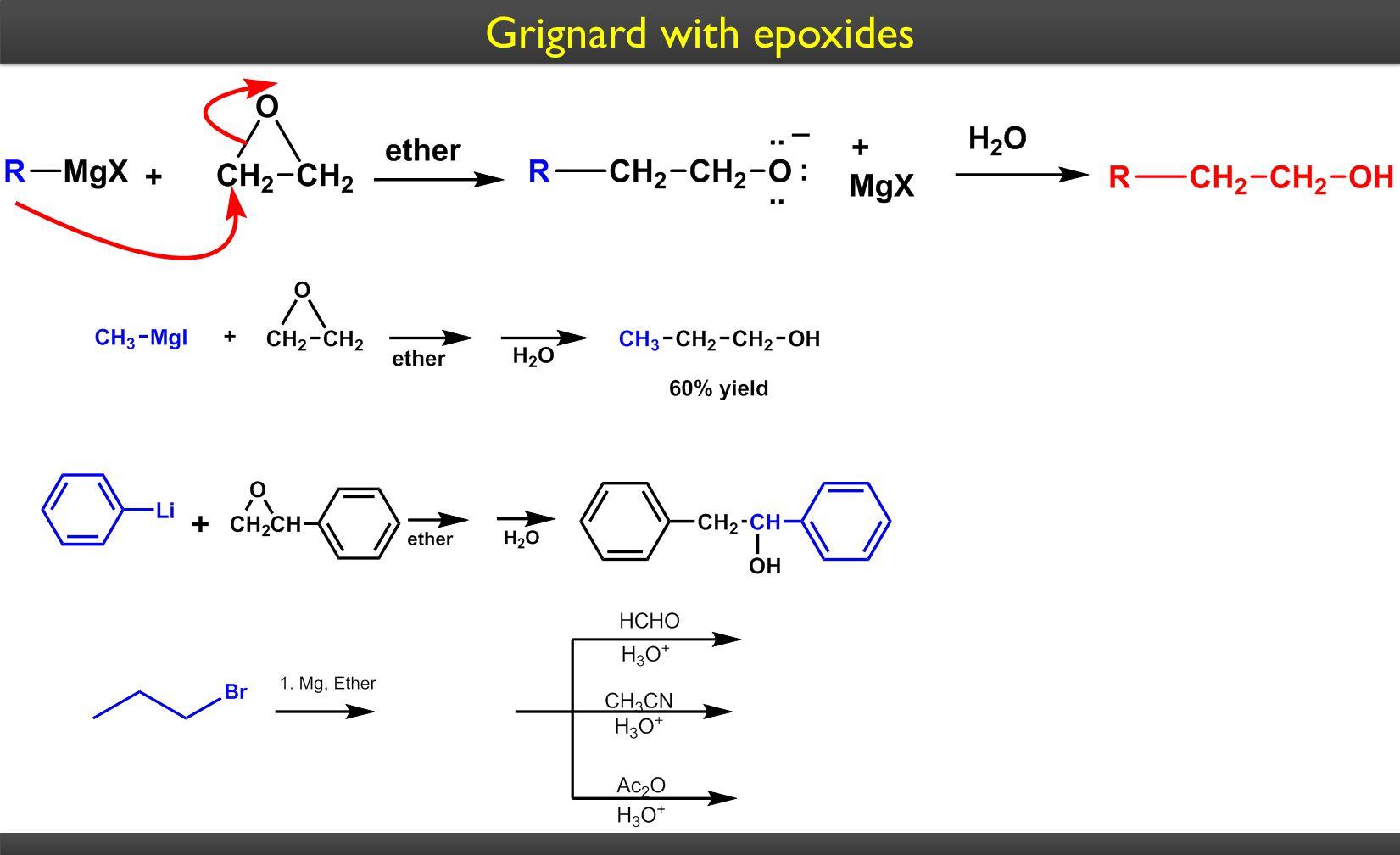 Grignard with epoxides