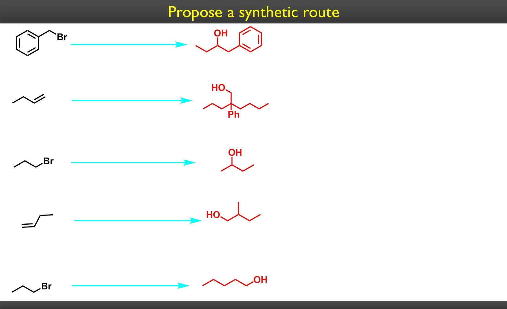 Propose a synthetic route