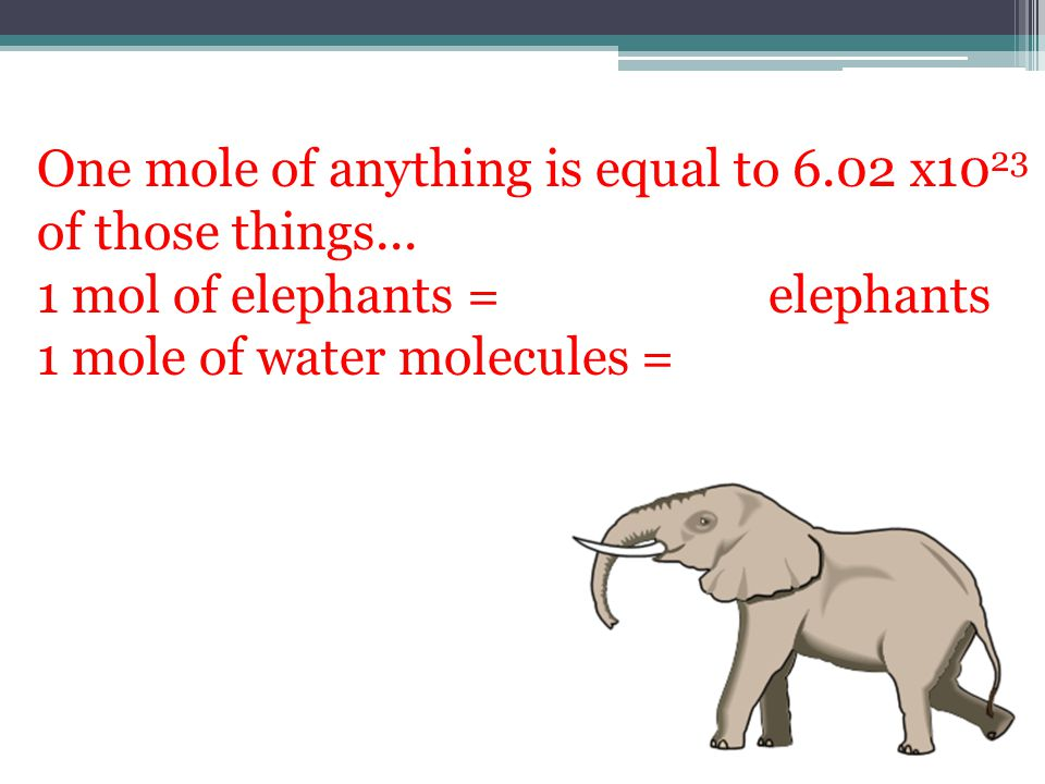 One mole of anything is equal to 6.02 x10 23 of those things...