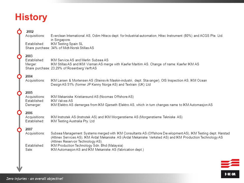 History 2008 Acquisition: DSC Engineering AS.Arne Bø Pedersen AS (dept.