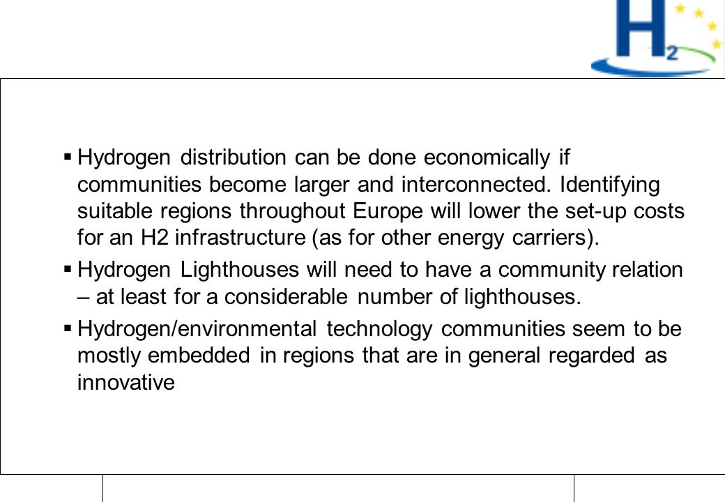 Raimund Bleischwitz Zürich, Apr 07 Importance for H2  Hydrogen distribution can be done economically if communities become larger and interconnected.