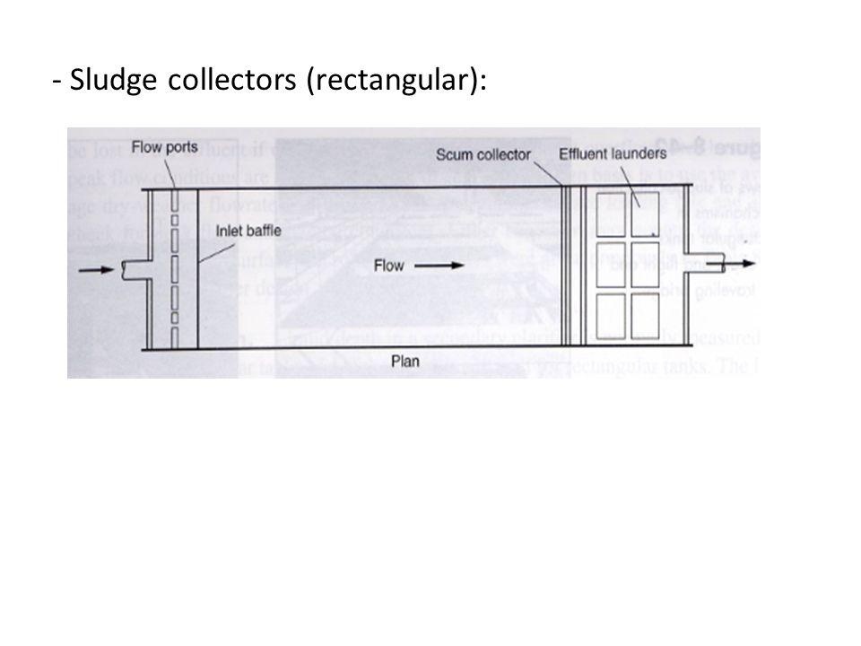 - Sludge collectors (rectangular):
