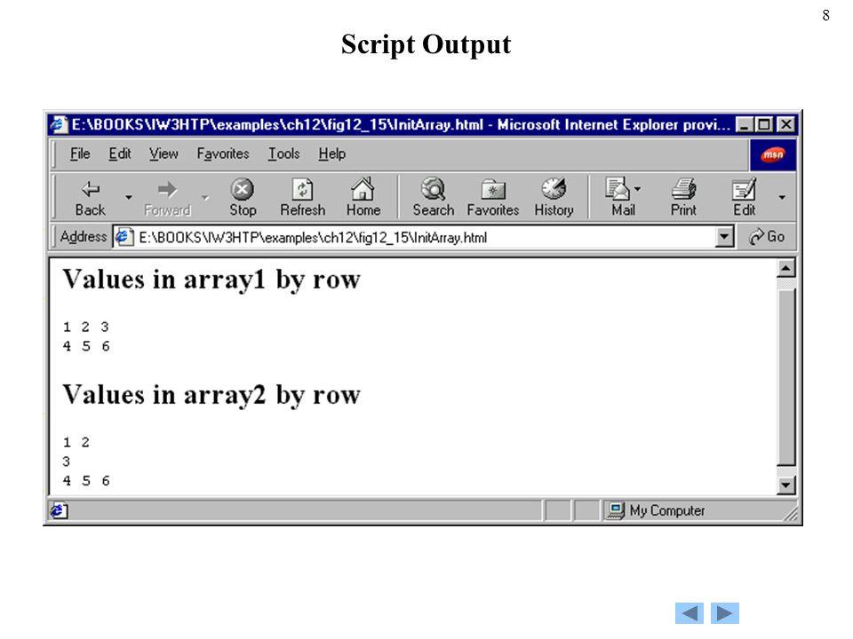 8 Script Output