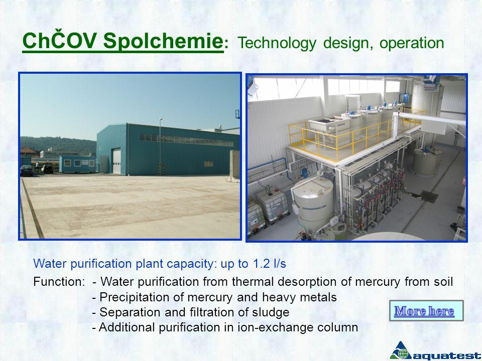 ChČOV Spolchemie : Technology design, operation