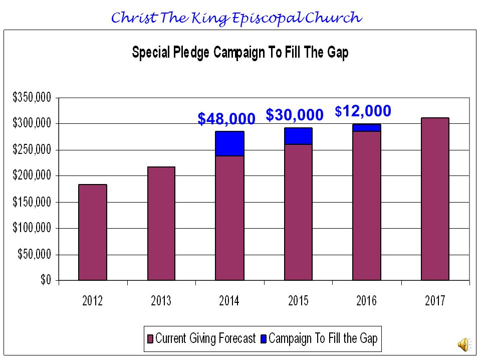 ISSUE We need to pay a salary to our new Rector Christ The King Episcopal Church