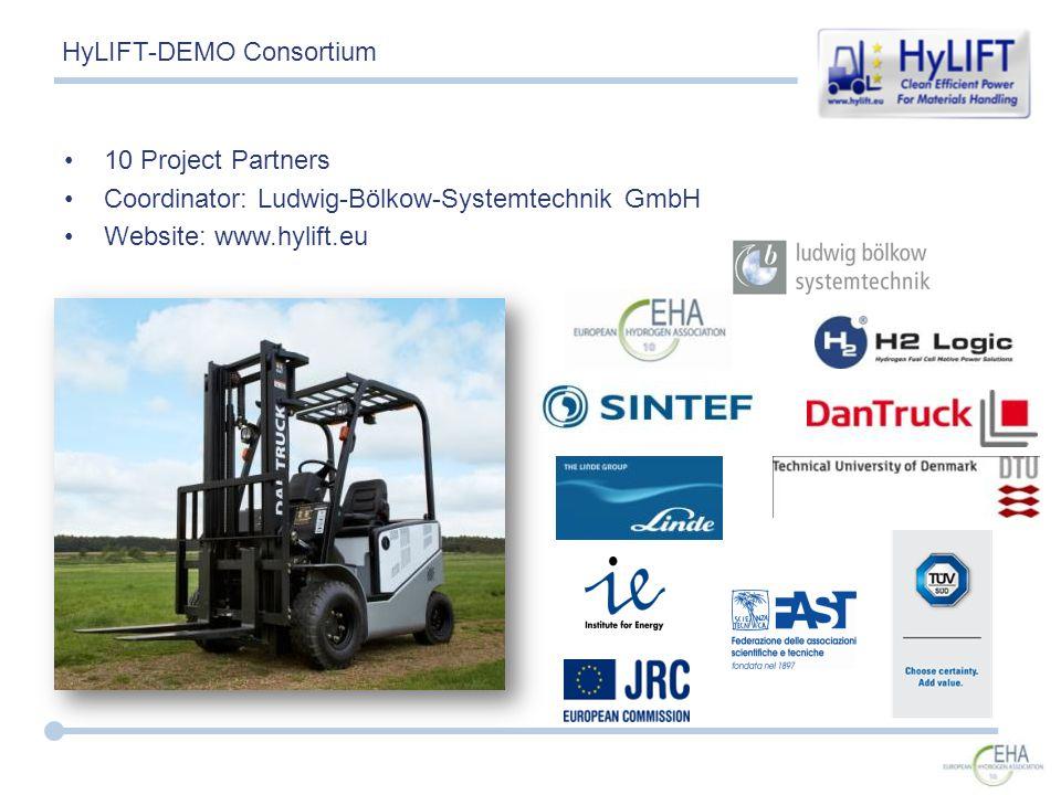10 Project Partners Coordinator: Ludwig-Bölkow-Systemtechnik GmbH Website: www.hylift.eu HyLIFT-DEMO Consortium