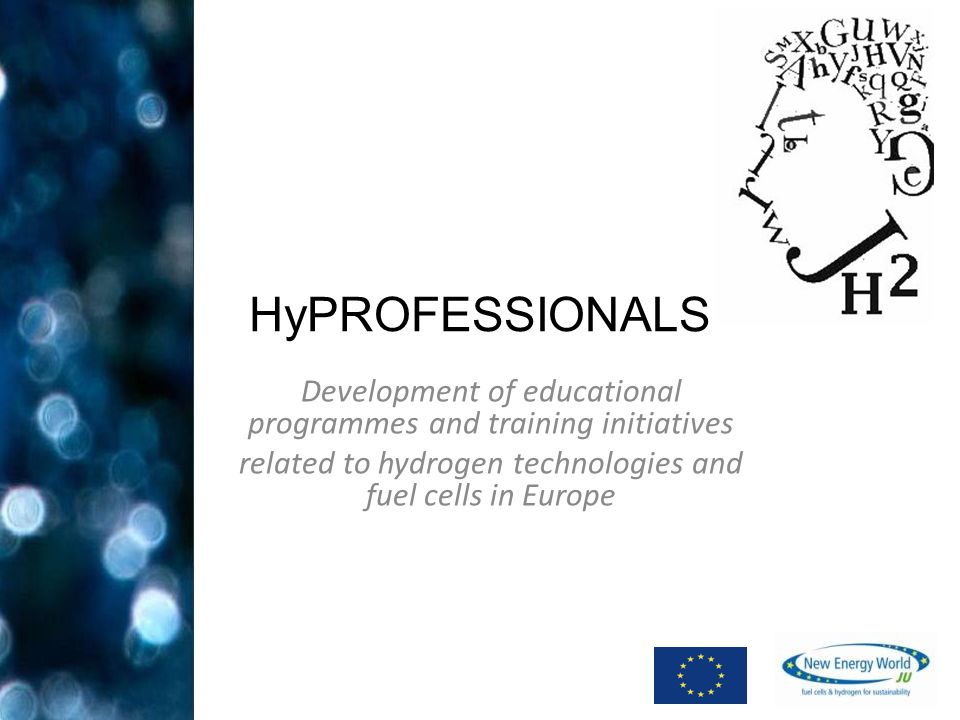 Development of educational programmes and training initiatives related to hydrogen technologies and fuel cells in Europe HyPROFESSIONALS