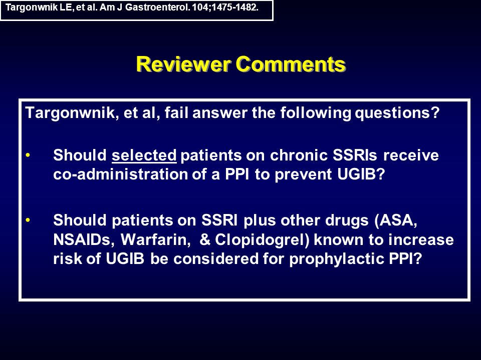 Reviewer Comments Targonwnik, et al, fail answer the following questions.
