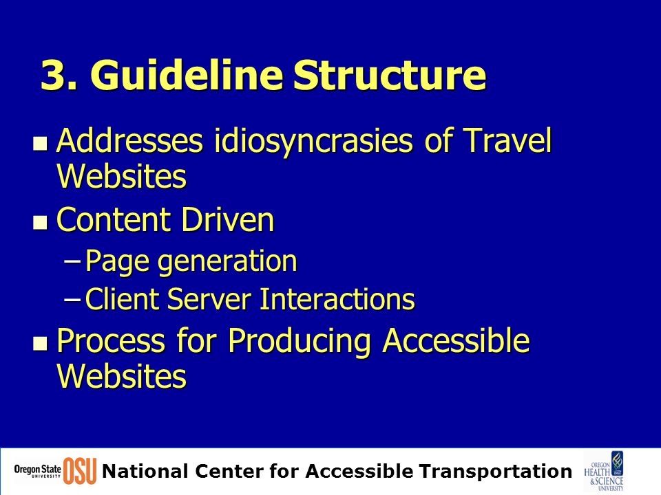 National Center for Accessible Transportation 3.