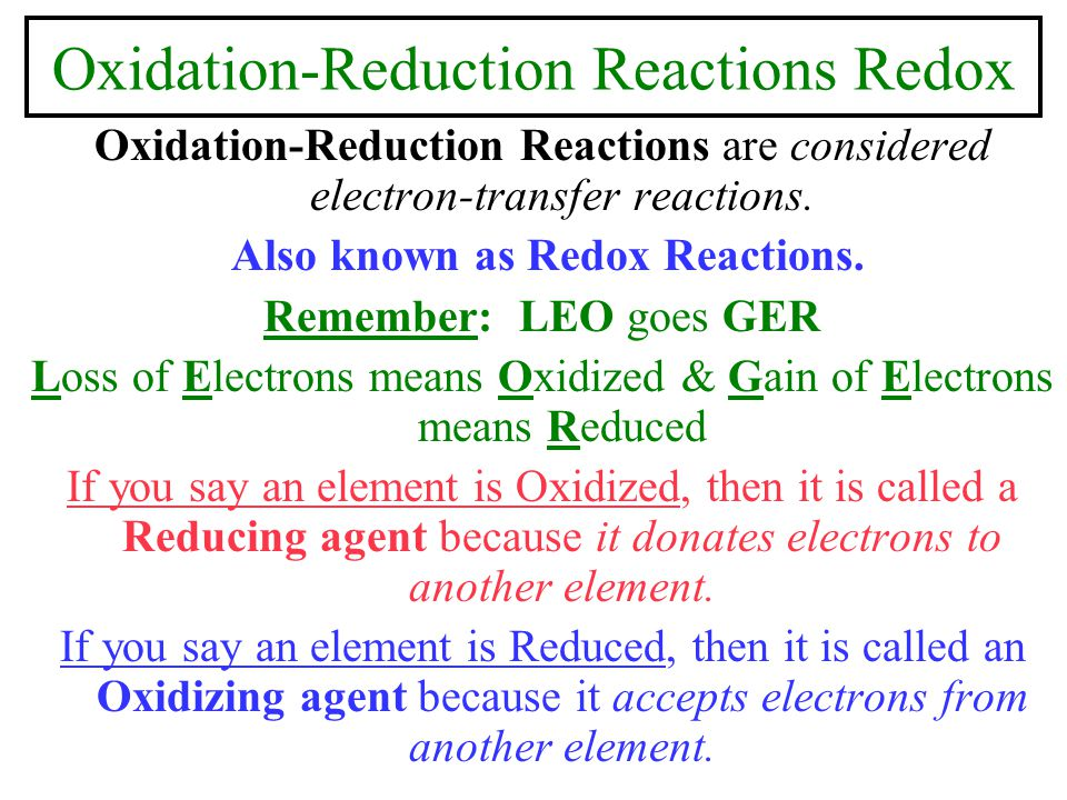 Spontaneity of Redox Reactions To relate cell potential, E o cell to thermodynamic quantities such as  G o and K, we can change chemical energy into electrical energy by the following equation:  G o = -nFE o cell Where n = the moles of electrons that pass through the circuit, F = faraday = 96,500 J / V x mol and E o cell is the cell potential and is spontaneous when it is (+).