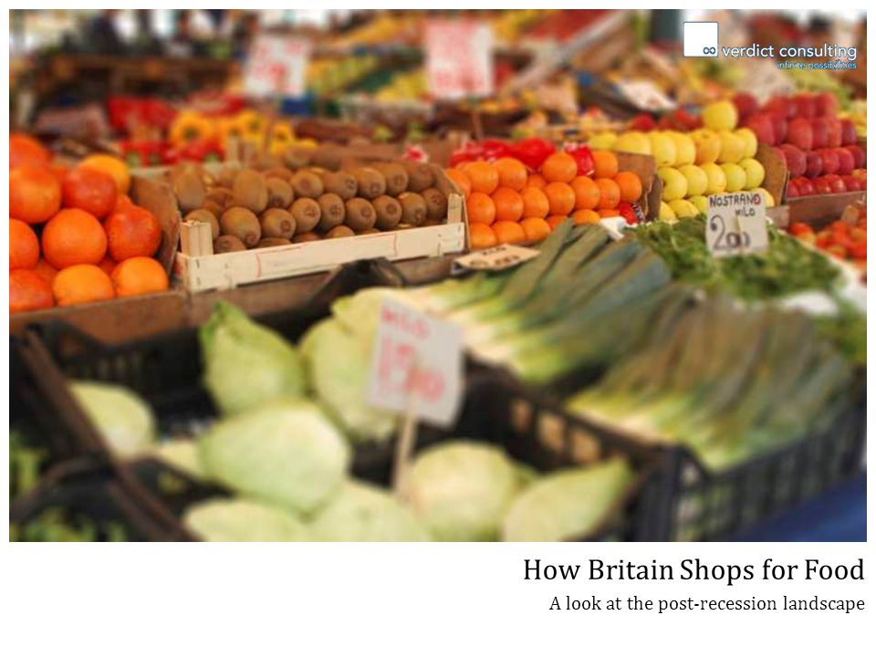 How Britain Shops for Food A look at the post-recession landscape