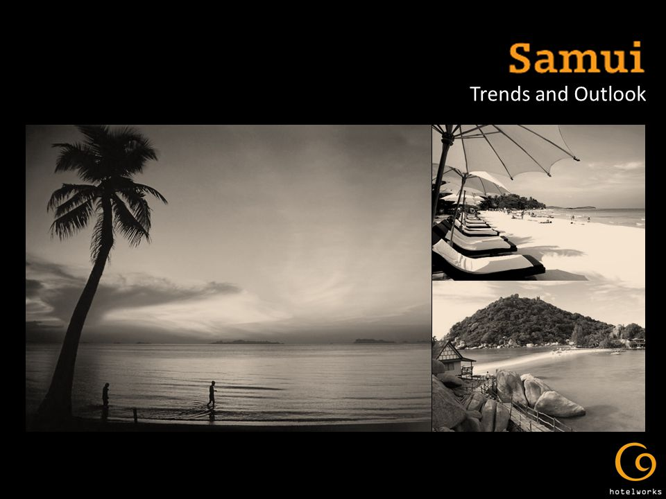 Samui 2009 at a Glance A domino effect with an occupancy decline of 5%, average room rates 13% and RevPAR 20%.