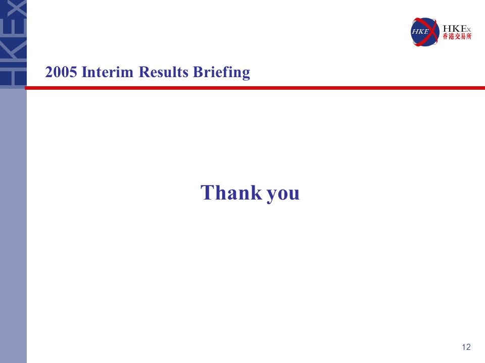 12 2005 Interim Results Briefing Thank you