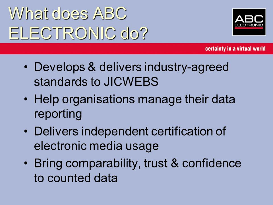 What does ABC ELECTRONIC do.