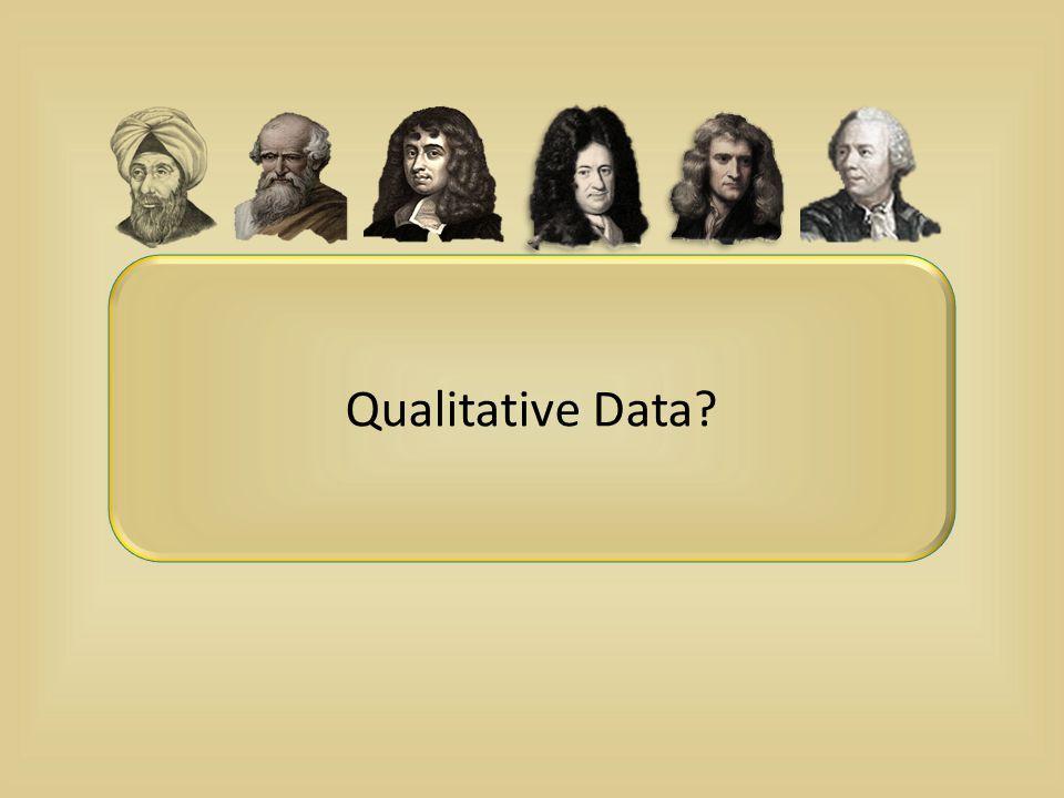 Qualitative Data?