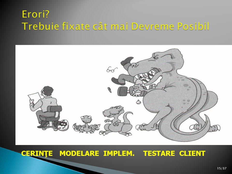 15/37 CERINŢE MODELARE IMPLEM. TESTARE CLIENT