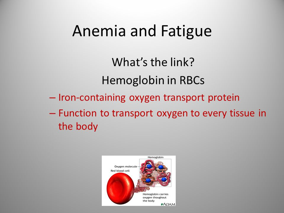 Further Principles Symptoms are more related to rate of fall in hemoglobin not level.