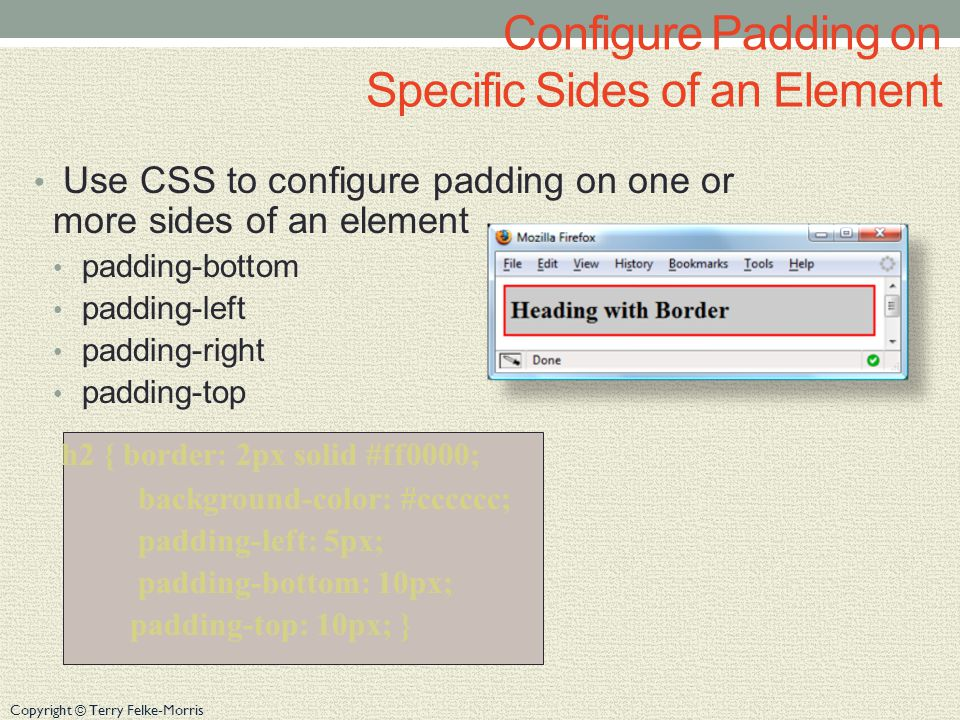 Copyright © Terry Felke-Morris CSS background-repeat Property