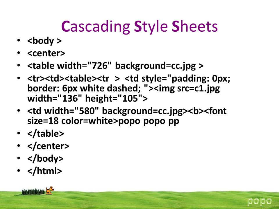 Cascading Style Sheets popo popo pp