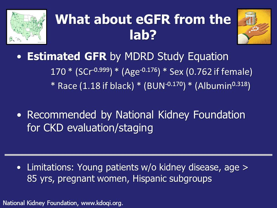 What about eGFR from the lab.