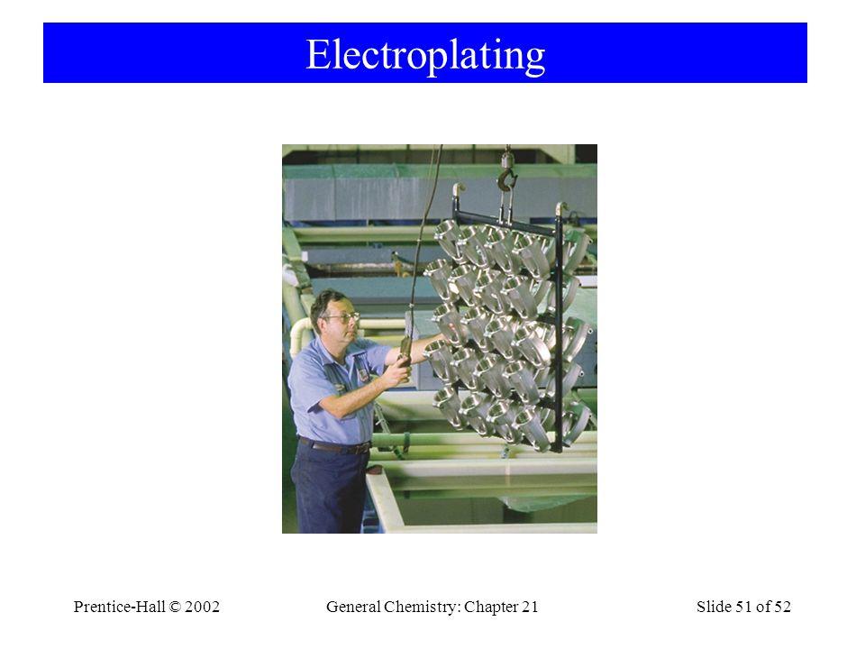 Prentice-Hall © 2002General Chemistry: Chapter 21Slide 51 of 52 Electroplating