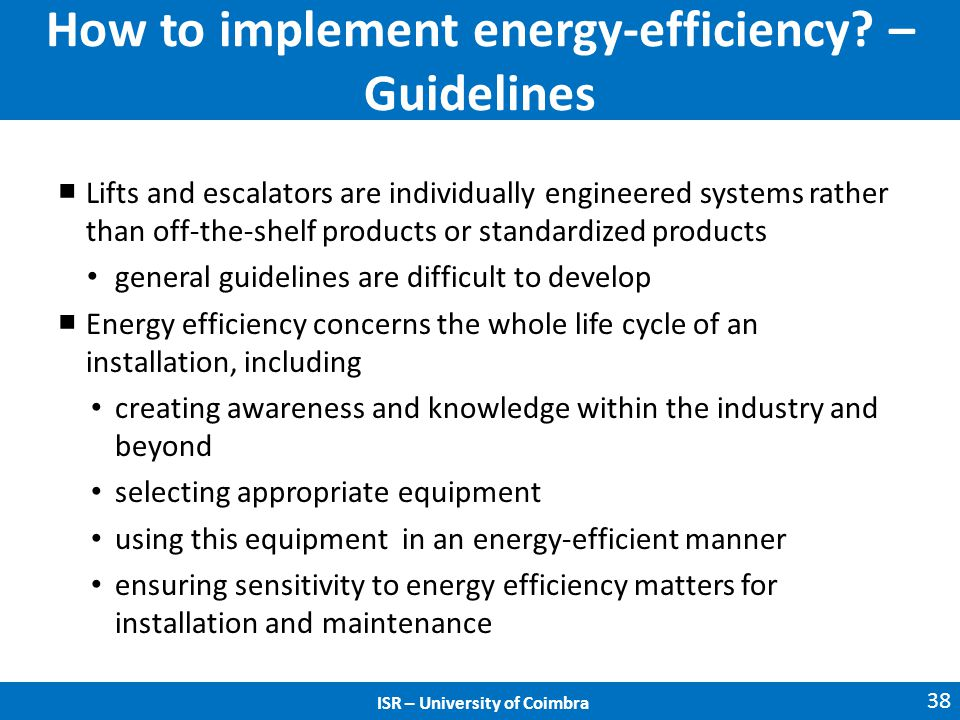 How to implement energy-efficiency.