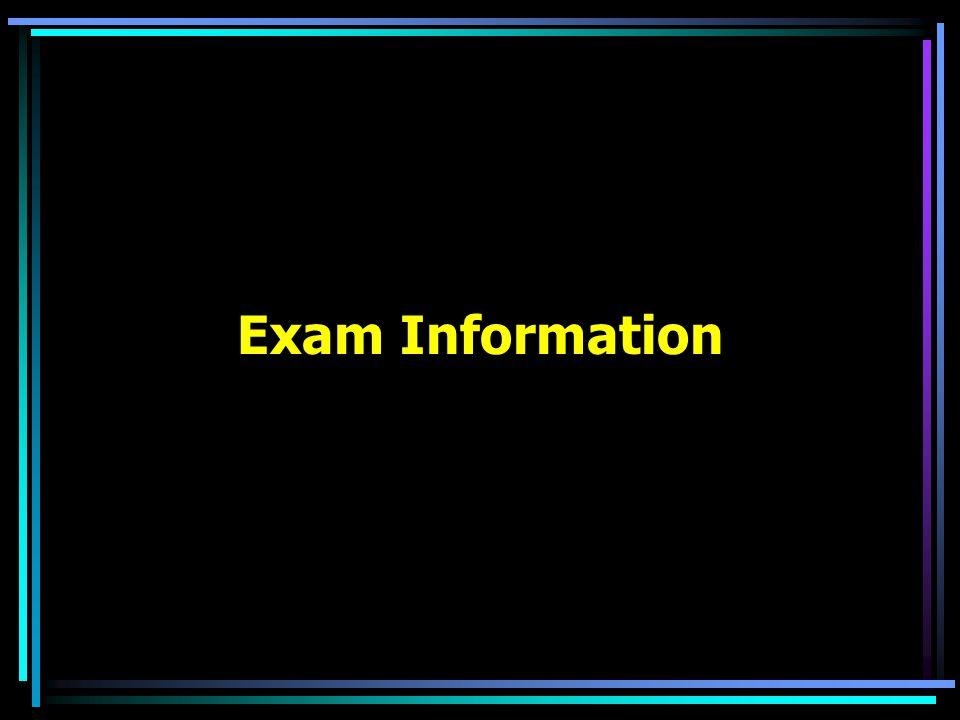 Exam Information