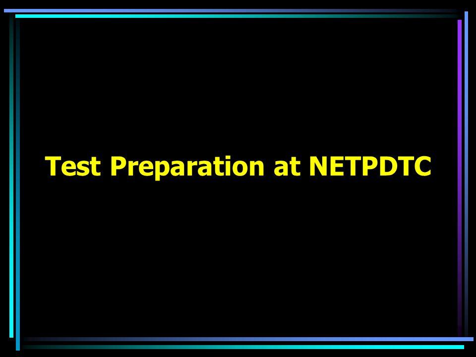Test Preparation at NETPDTC