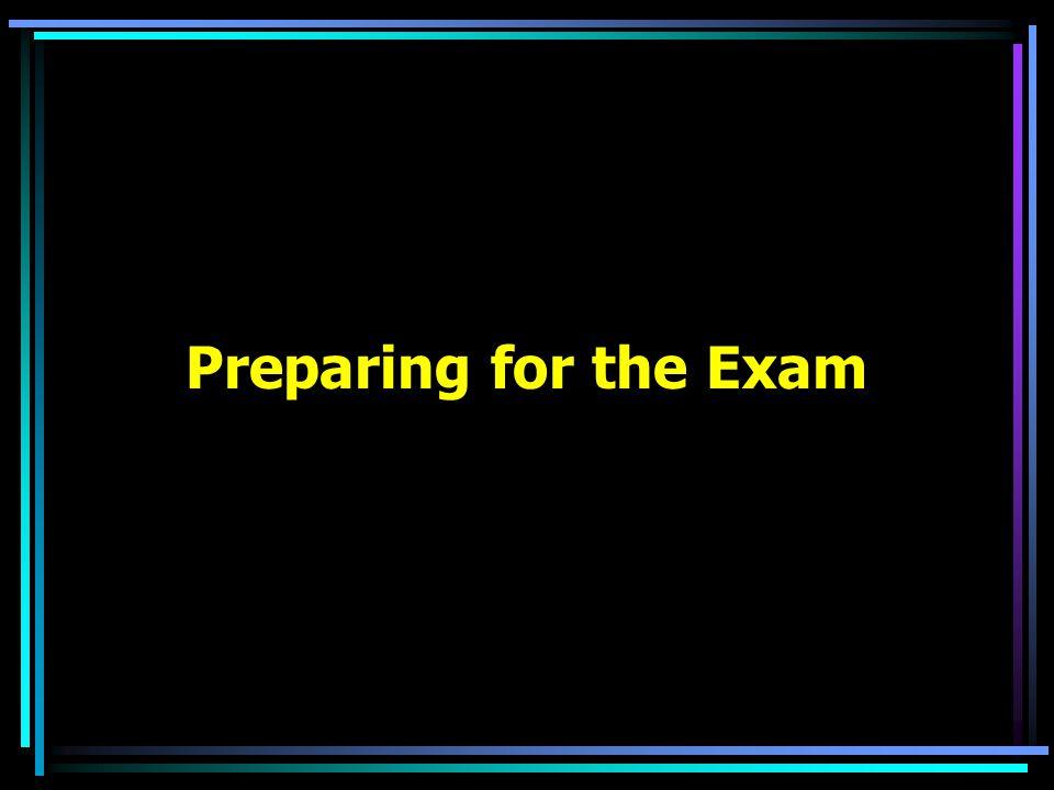 Preparing for the Exam