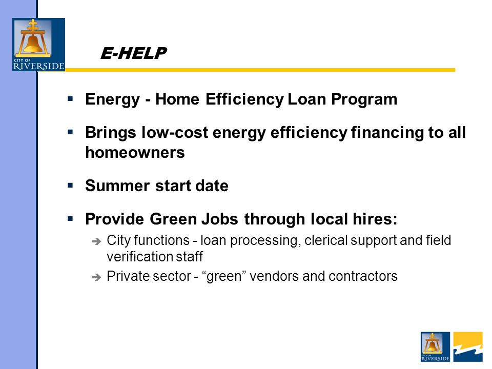 E-HELP Promotion  Strong marketing starting in fall 2010  SOLAR SALE.