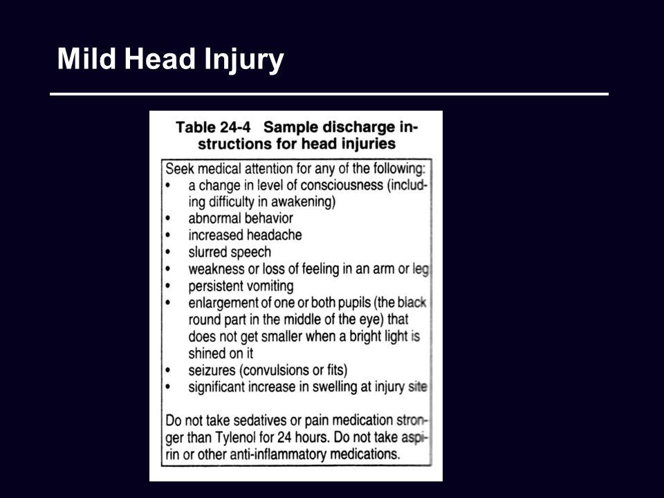 Mild Head Injury