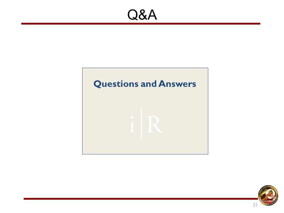 Q&A Questions and Answers 21