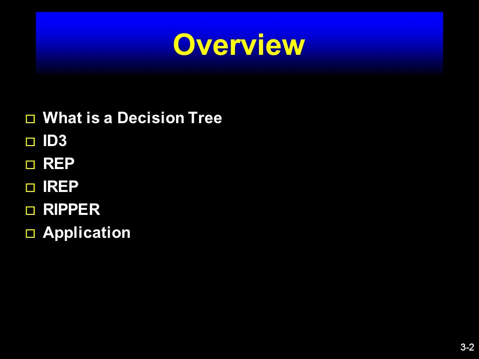 3-3 What is Decision Tree