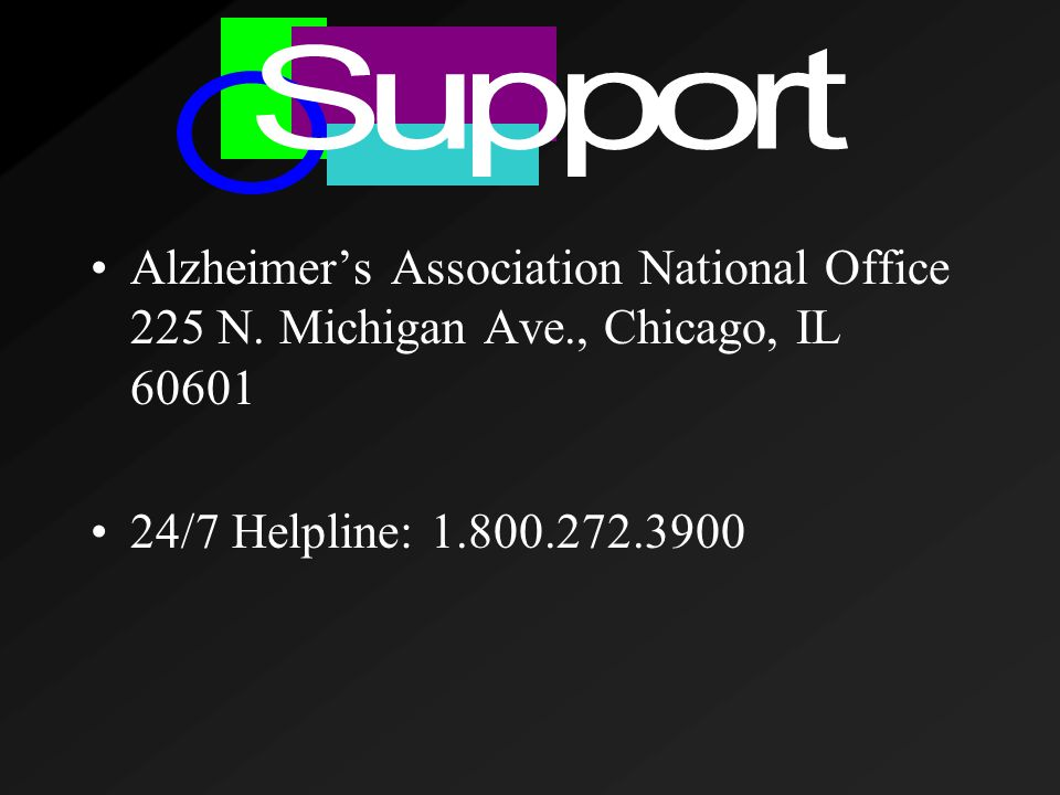 Alzheimer's Association National Office 225 N.