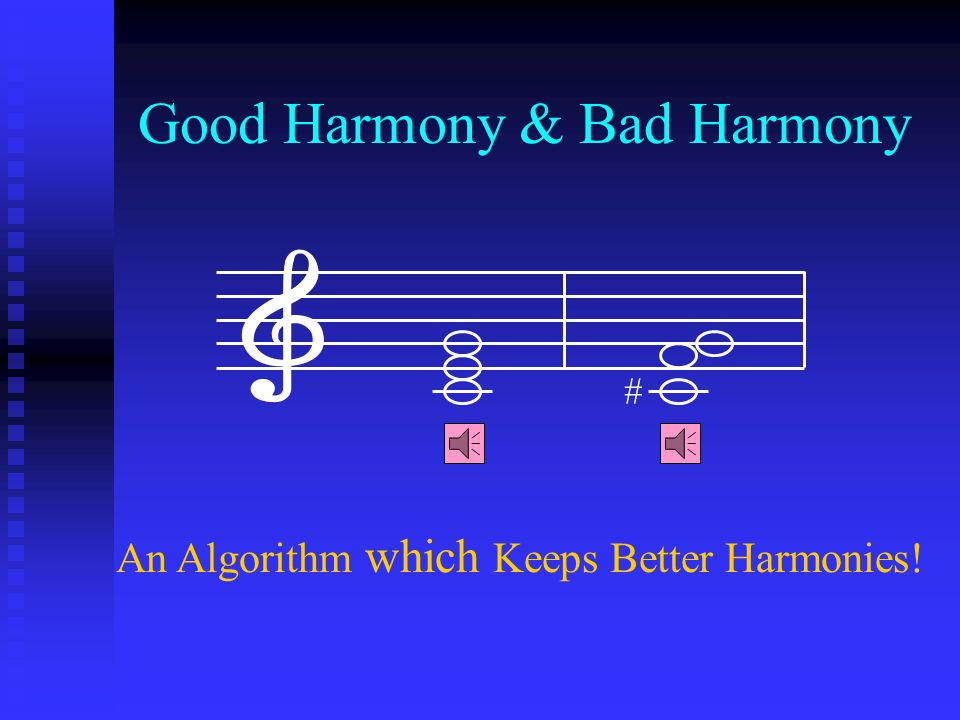 Comparison Factors Musical Inst. → Decision Var. Musical Inst. → Decision Var. Pitch Range → Value Range Pitch Range → Value Range Harmony → Solution