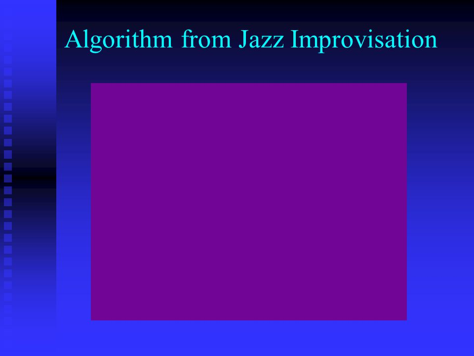Algorithm from Music Phenomenon