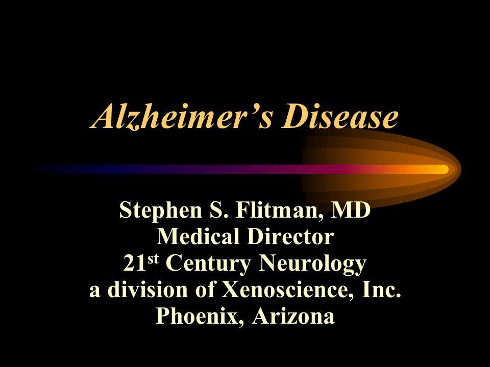 Alzheimer's Disease Stephen S.